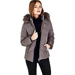 Wallis - Petite mink short padded coat