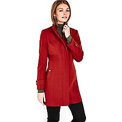 Wallis - Petite rust funnel coat