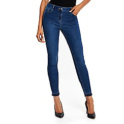 Wallis - Petite midwash Ellie letdown jeans