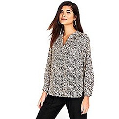 Wallis - Petite animal print shirt