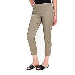 Wallis - Petite khaki capri trousers