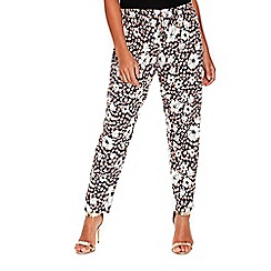 Wallis - Petite daisy print trousers