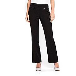 Wallis - Petite black bootcut trousers