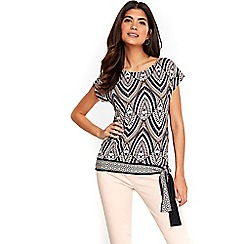 Wallis - Petite stone tribal tie side top