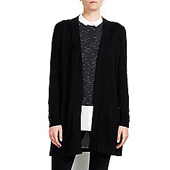 Wallis - Petite black longline cardigan