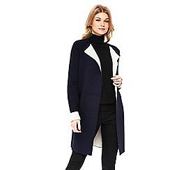 Wallis - Petite navy double faced coatigan