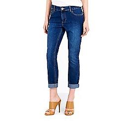 Wallis - Petite midwash roll up jean
