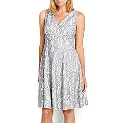 Wallis - Petite grey lace prom dress