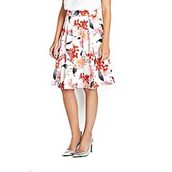 Wallis - Petite floral full skirt