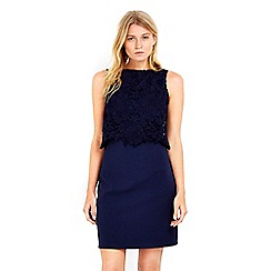 Wallis - Petite navy lace overlay dress
