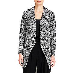 Wallis - Petite monochrome jacquard jacket
