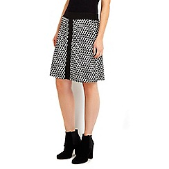 Wallis - Petite monochrome diamond jacquard skirt