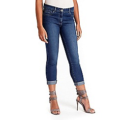 Wallis - Petite midwash roll up jeans