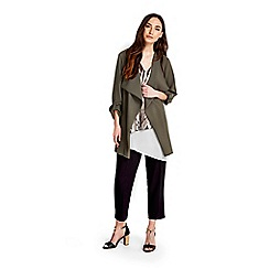 Wallis - Khaki floral crepe jacket