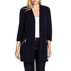 Wallis - Petite navy longline jacket