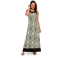 Wallis - Petite lime diamond maxi dress