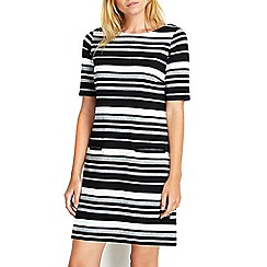 Wallis - Monochrome stripe jersey dress