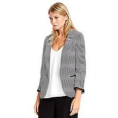 Wallis - Petite monochrome stripe jacket