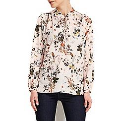 Wallis - Petite pale pink floral blouse