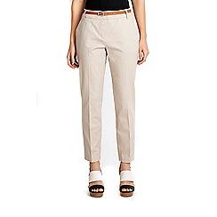 Wallis - Stone Cotton cigarette trouser
