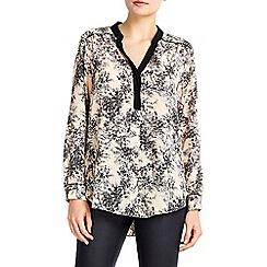 Wallis - Petite blush blossom print shirt