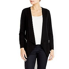 Wallis - Petite black zip pocket morgan jacket