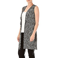 Wallis - Petite print sleeveless jacket