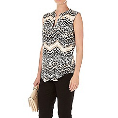 Wallis - Petite printed sleeveless top