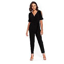 Wallis - Petite black split jumpsuit