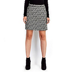 Wallis - Petite black white skirt
