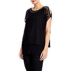 Wallis - Petite black embellished