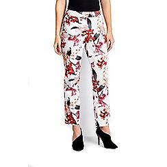 Wallis - Petite coral floral trouser