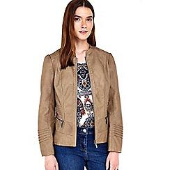Wallis - Petite camel biker jacket