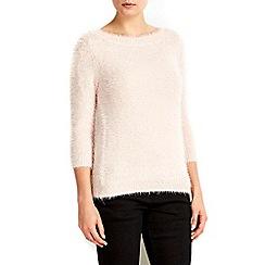 Wallis - Petite pale pink bardot lash jumper