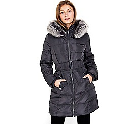 Wallis - Petite grey padded coat