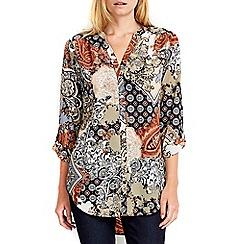 Wallis - Petite paisley print longline shirt