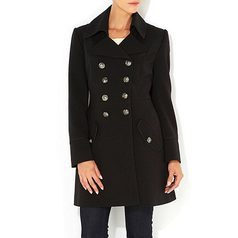 Wallis - Black petite military coat