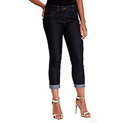 Wallis - Petite indigo roll up jeans