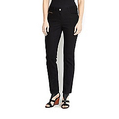 Wallis - Petite black straight leg jean