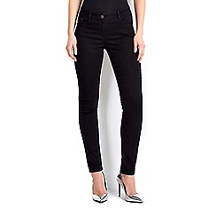 Wallis - Petite black high waisted jegging