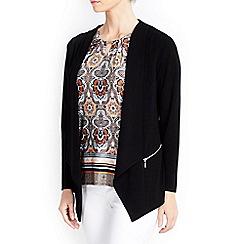 Wallis - Petite black drape jacket