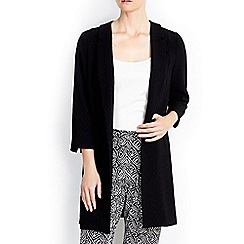 Wallis - Petite black crepe duster jacket