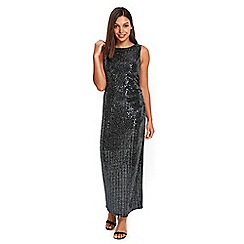 Wallis - Black sequin detailed maxi dress