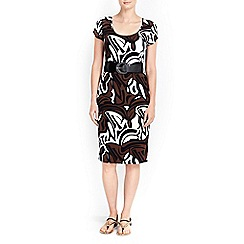 Wallis - Petite graphic print midi dress