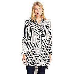 Wallis - Petite geometric printed longline shirt
