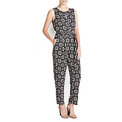Wallis - Petite neutral printed jumpsuit