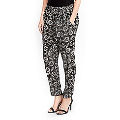 Wallis - Petite neutral tile print trouser