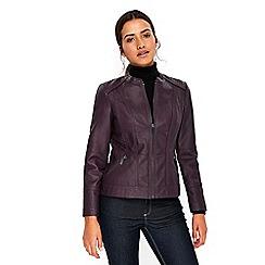 Wallis - Petite purple biker jacket