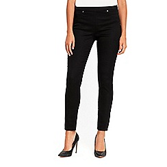 Wallis - Petite black side zip trousers