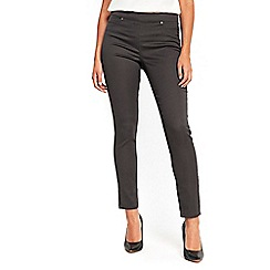 Wallis - Petite grey side zip trousers